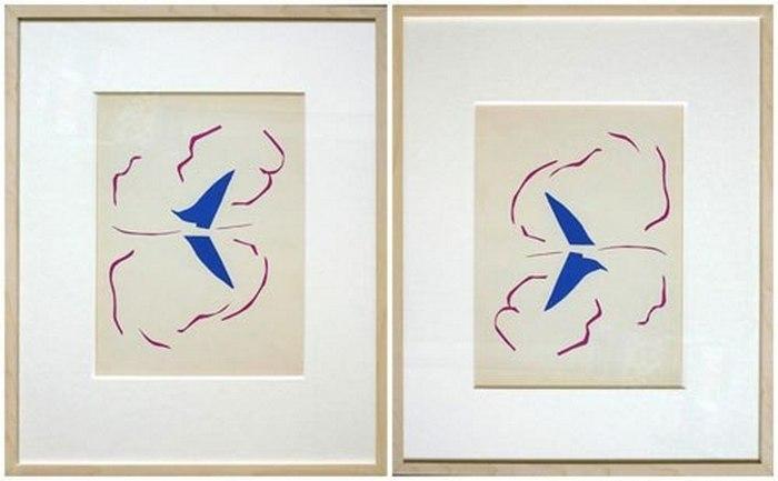 Вот так висела картина Матисса, а так должна была висеть