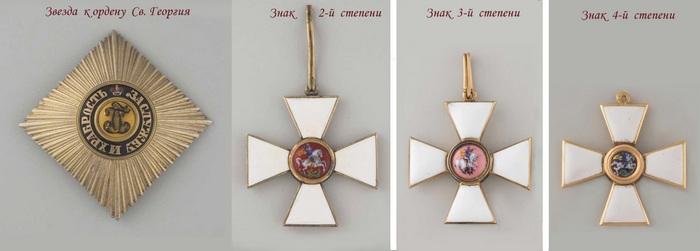 Орден Святого Георгия и звезда к ордену.
