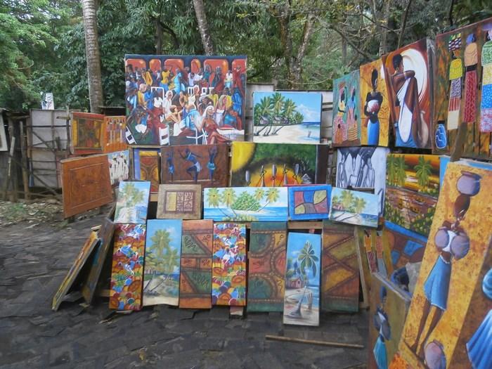 Уличная живопись. Гаити.