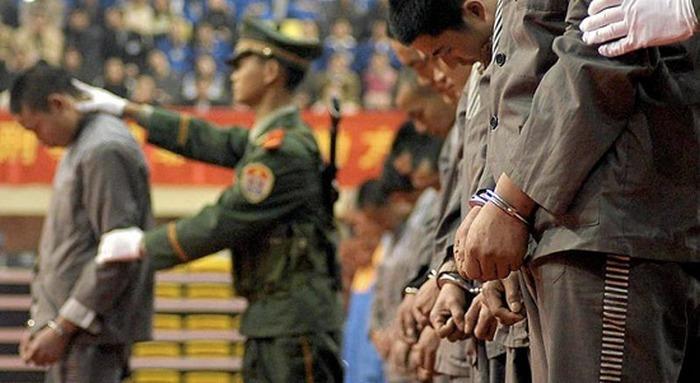 Расстрел взяточников в Китае