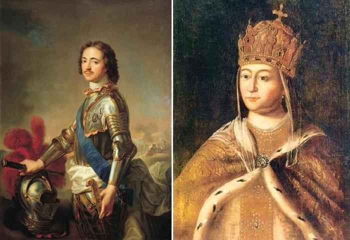 Пётр I и Евдокия Лопухина.