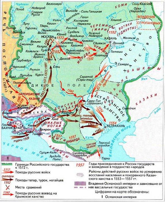 борьба с Крымским ханством во второй половине XVI века.