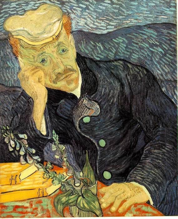 Портрет доктора Гаше. Винеснт Ван Гог.