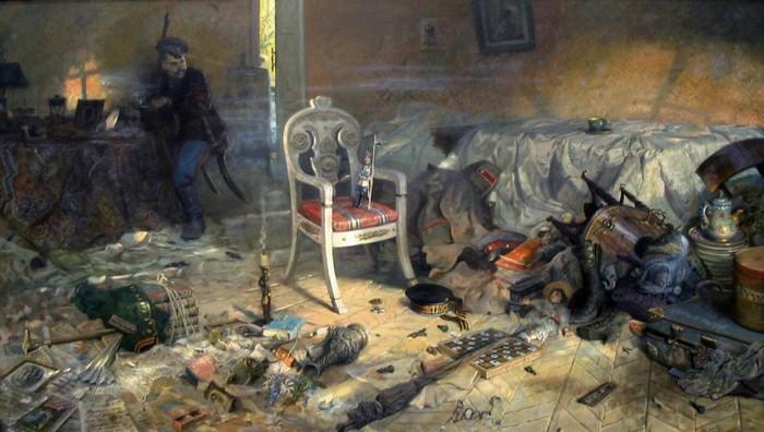 Ипатьевский дом после цареубийства. Картина Павла Рыженко.