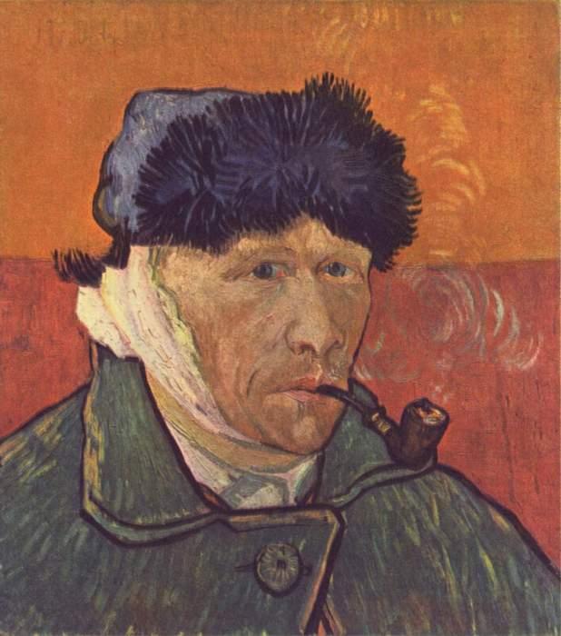 Автопортрет с отрезанным ухом. Винсент Ван Гог.