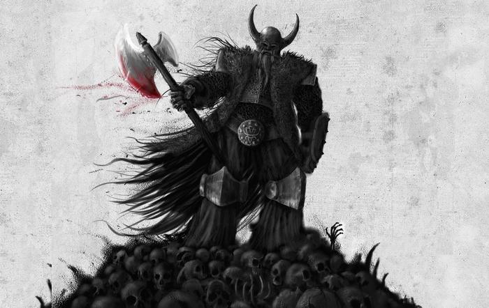 Кровожадные воины в рогатых шлема