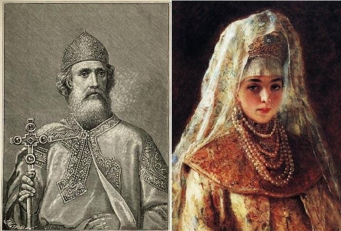 Владимир Красно Солнышко и Рогнеда Полоцкая.