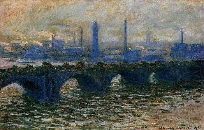 Мост Ватерлоо.Клода Моне. Картина, которая, вероятно, была сожжена похитителем