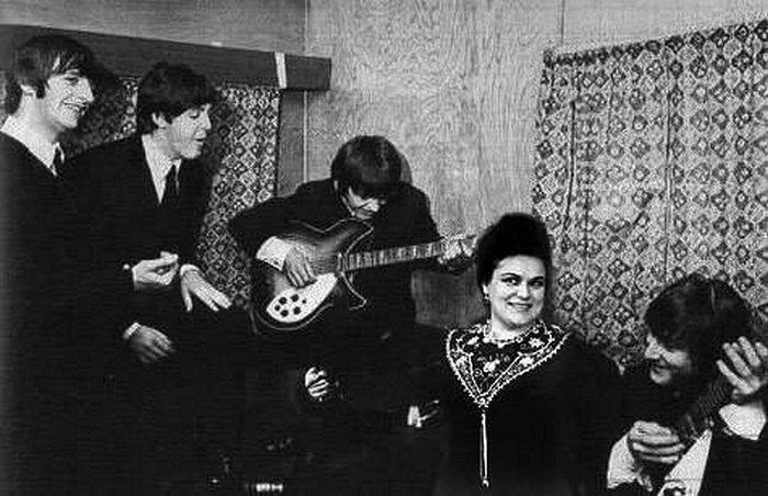 Людмила Зыкина и группа The Beatles. 1964 г.