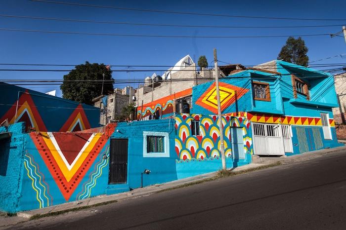 Проект «Colonias Comparte» при участии испанского коллектива Boa Mistura