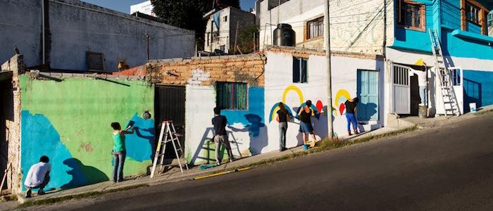 Цель проекта — придать новый облик рабочему району Лас Америкас в мексиканском городе Сантьяго-де-Керетаро