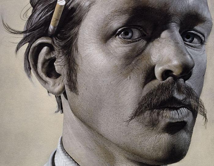 Автопортрет с сигаретой (фрагмент)
