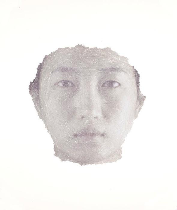 Гын Янг Парк (Keun Young Park), автопортрет из обрывков фотографий