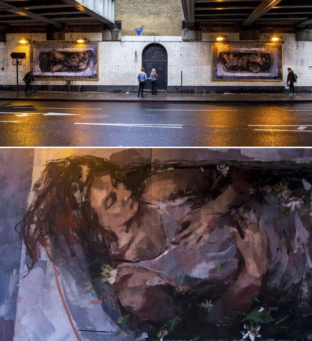 Borondo - Лондон, Англия. Диптих «Адам и Ева» («Adam & Eve»)