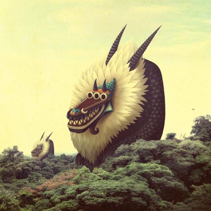 Их зубастые пасти, острые рога и клювы забавно контрастируют с круглыми выпученными глазами и неожиданно выразительной мимикой.