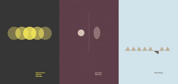 Серия плакатов Патрика Смита, посвященная расстройствам психики
