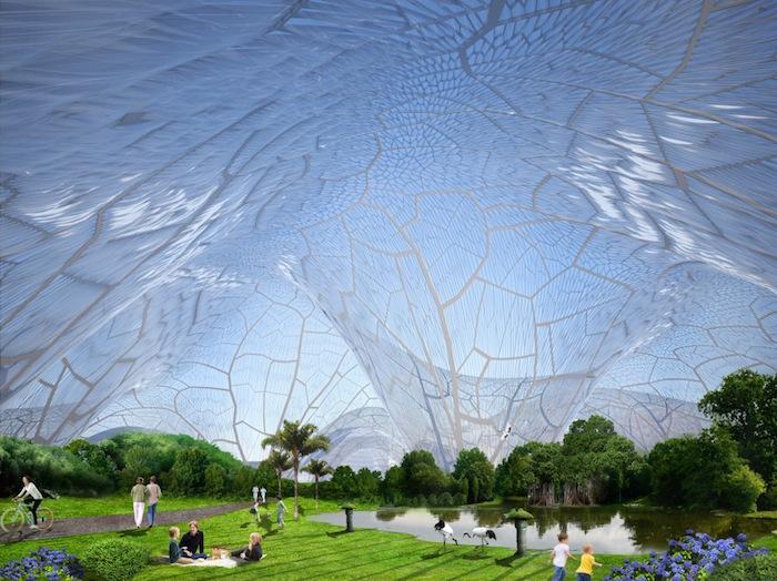 «Пузыри» («Bubbles») : концепция городского ботанического сада от архитектурного бюро Orproject
