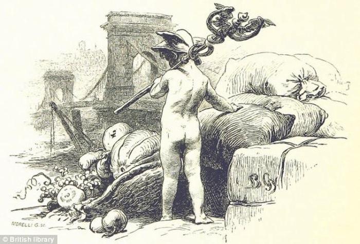 Иллюстрация с мифилогическими мотивами из австрийской книги