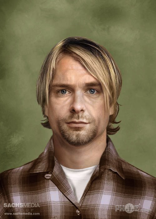 Курт Кобейн. Солист группы Nirvana. Умер в1994 году в возрасте 27 лет