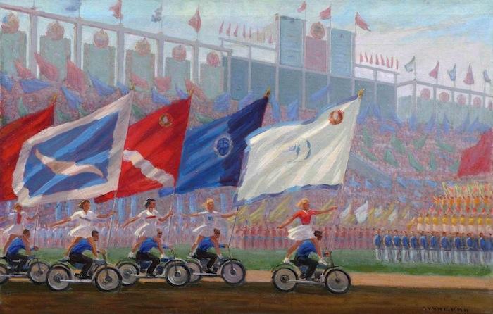 картина Сергия Лучишкина «Парад на стадионе Динамо», 1936 - 1976