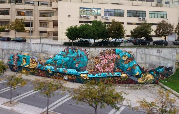 Pixel Pancho x Vhils – Лиссабон, Португалия