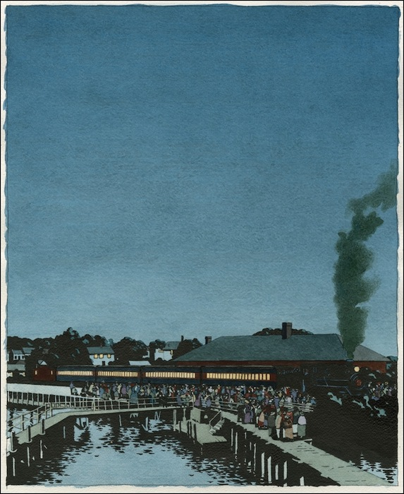 Ян Нашимбене (Yan Nascimbene). Поезд на станции