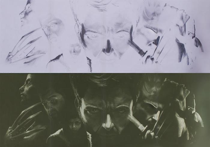Темой для первых законченных «инвертированных картин» Брайана послужили «Люди Икс» (X-Men), а конкретнее – главный герой фильма 2009-го года Росомаха (Wolverine).