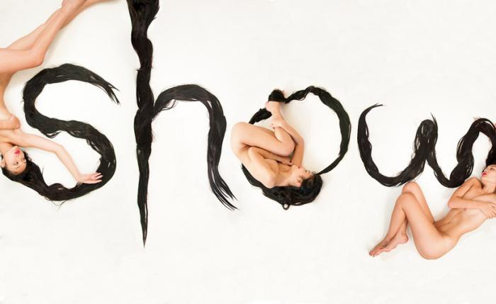 «show», «Волосяной алфавит» («Hair Alphabet») Шуронг Диао