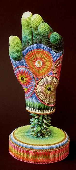 Рука. Бисерные скульптуры Джэн Хулинг (Jan Huling)