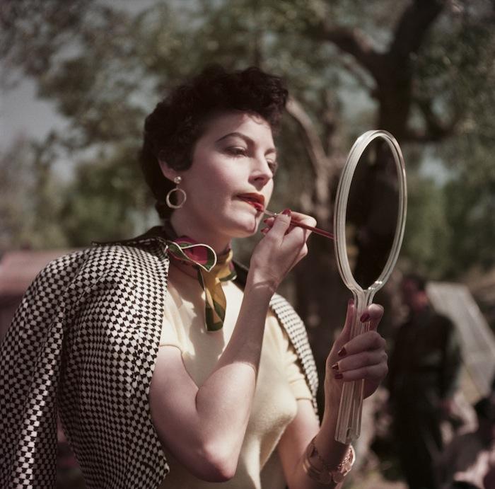 Ава Гарднер на съемках фильма «Босоногая графиня» в Италии (1954)