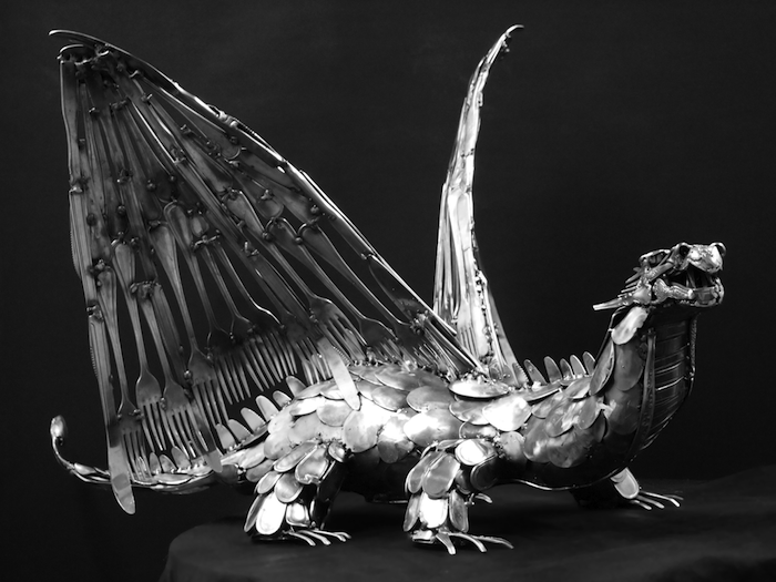 Скульптуры из столовых приборов Гэри Хави