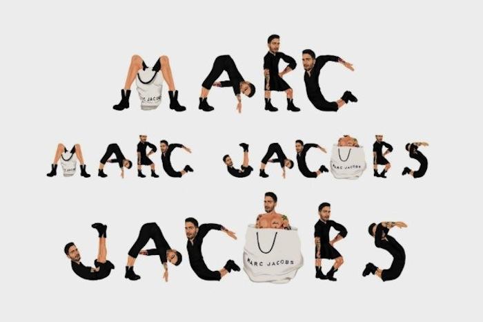 «Логотипы Майка Фредерико» («Logos by Mike Frederiqo»): Марк Джейкобс