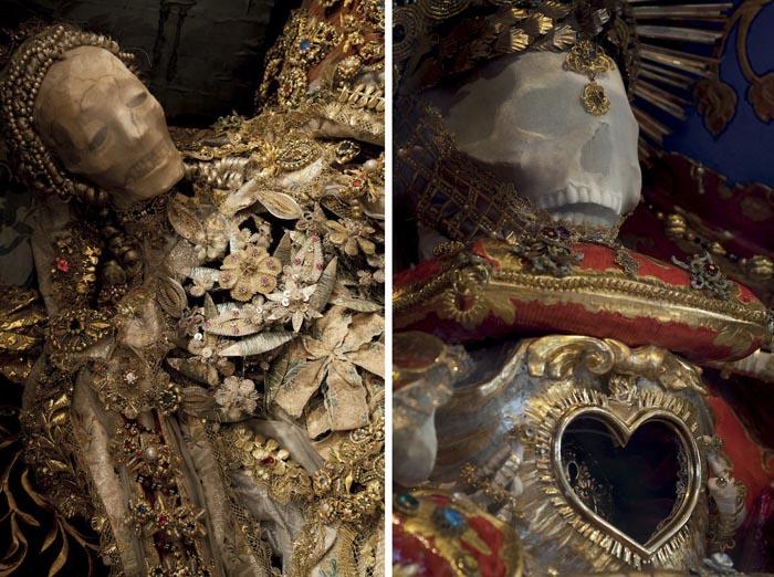 Слева: Святая Луция в Хайлигкройцтале. Справа: Святой Феликс в Сурзее.