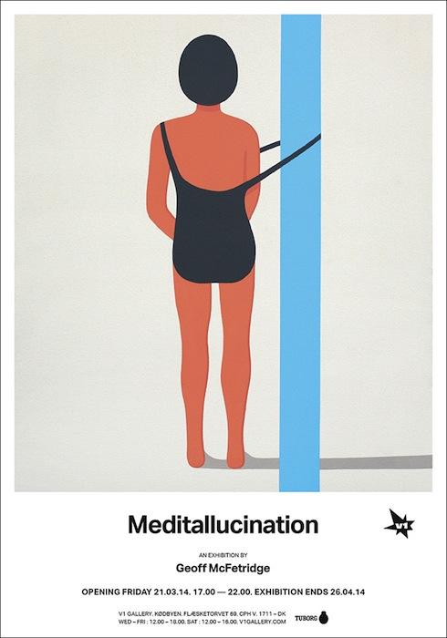 Плакат персональной выставки Макфетриджа «Медиталюцинация» (Meditallucination).