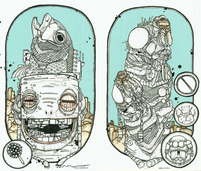 Иллюстрации Николя Ди Женовы (Nicholas di Genova). Набросок