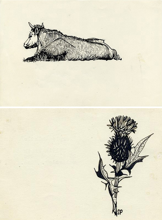 Бык и чертополох