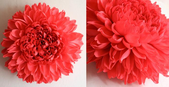 Гигантские бумажные цветы Тиффани Тёрнер (Tiffanie Turner)