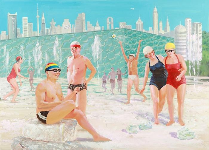 «Пекинский национальный плавательный комплекс для свежего воздуха и здоровой жизни» («Water Cube for Clean Air and Healthy Life»)