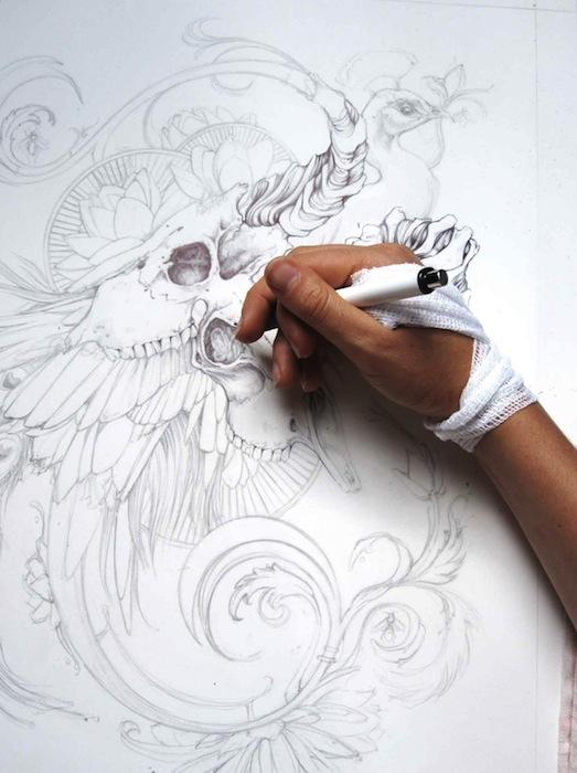 Как начинается рисунок