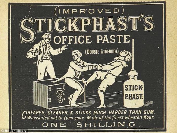 Реклама клея, 1885 год