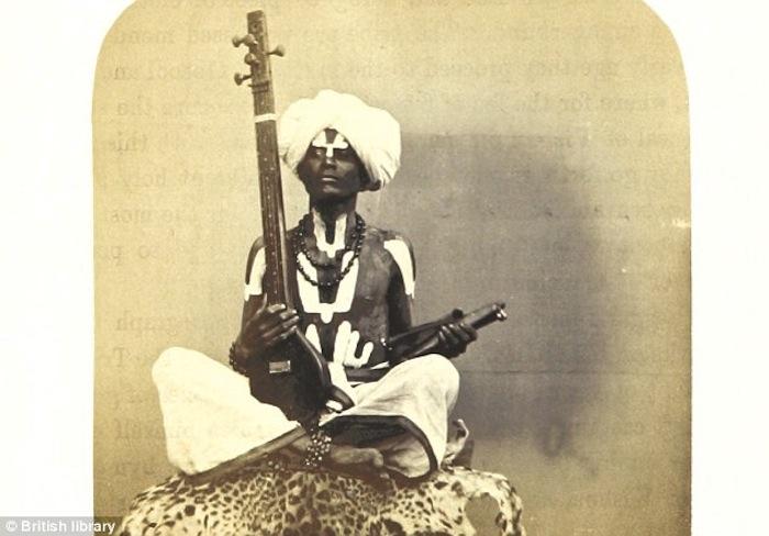 Индийский музыкант, 1863г