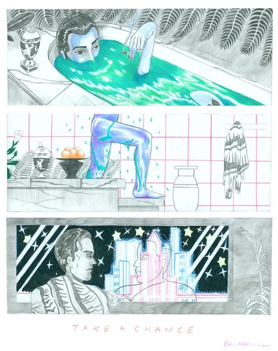 Зарисовка для комикса «Рискни» («Take A Chance»)