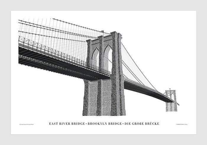 Бруклинский мост - шрифтовая композиия Кэмерона Мола