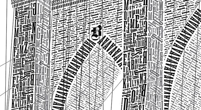 Бруклинский мост. Фрагмент композиции.