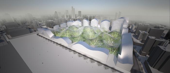 Источником вдохновения для «Пузырей» послужила знаменитая утопическая идея американского архитектора и изобретателя Бакминстера Фуллера, предложившего заключить весь Нью-Йорк в геодезический купол