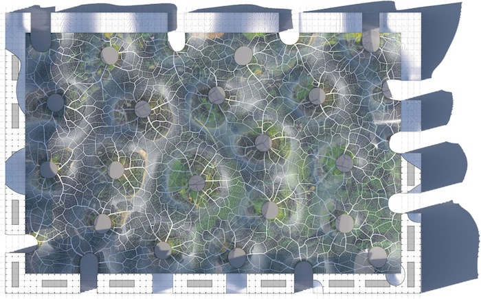 Мощная система теплообмена и солнечные батареи позволили бы зонировать пространство, поддерживая в отдельных садах необходимые условия для жизни растений из определенной климатической зоны