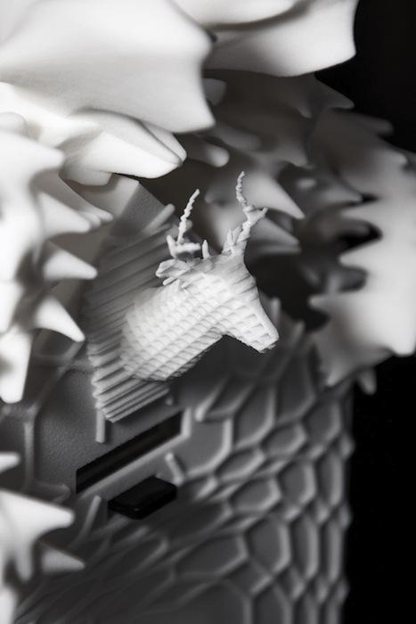 Готовая трехмерная модель была распечатана на 3D-принтере