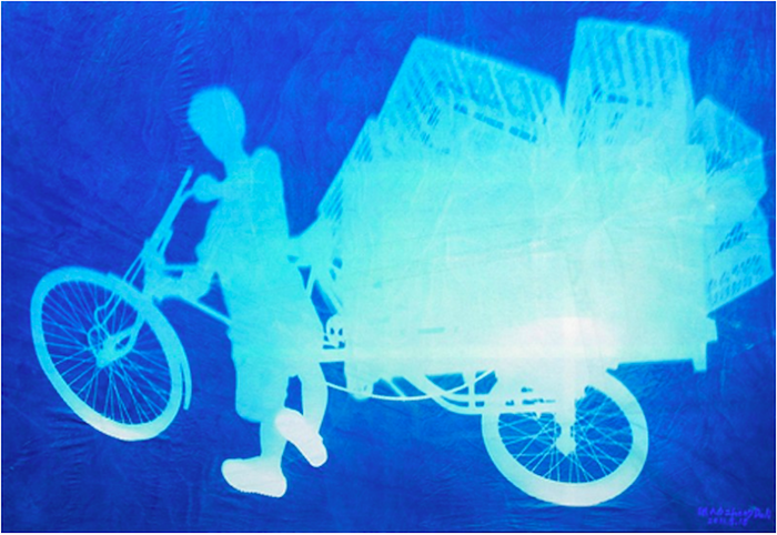 «World's Shadows». Велосипед рассыльного.