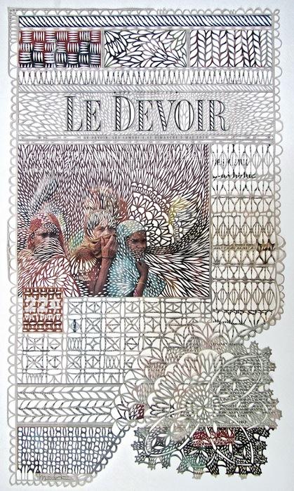 Бумажное кружево из старых газет Мириам Дион (Myriam Dion)