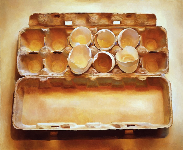 Mary Pratt, Eggs in an Egg Crate, 1975